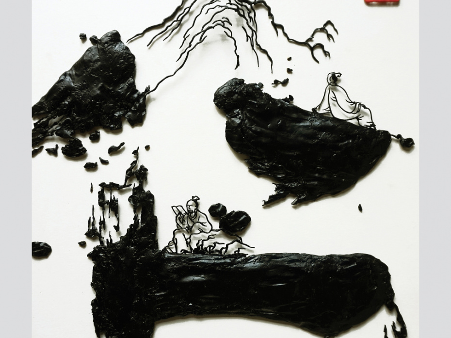 """Iron picture""""The virtuous like mountains"""" 1"""
