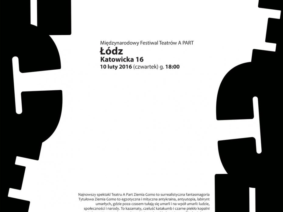 afisz MIędzynarodowy Festiwal Teatrów APart 1