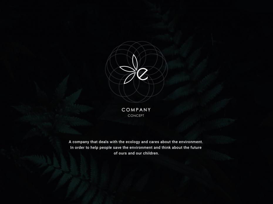 "Web design ""ECO company (concept)"" 2019 1"