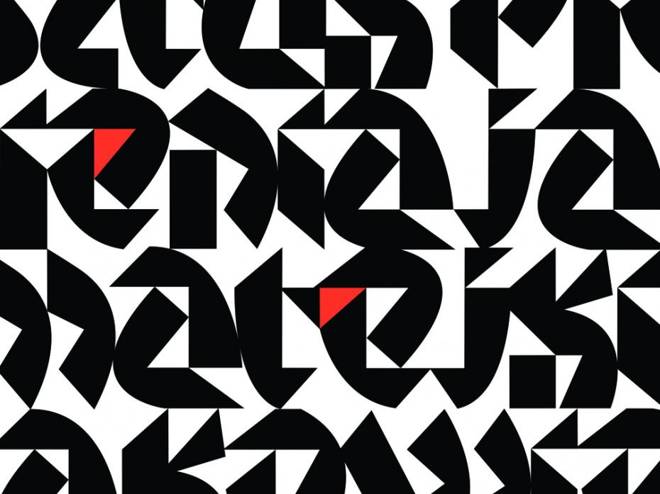 Triangle Font 1