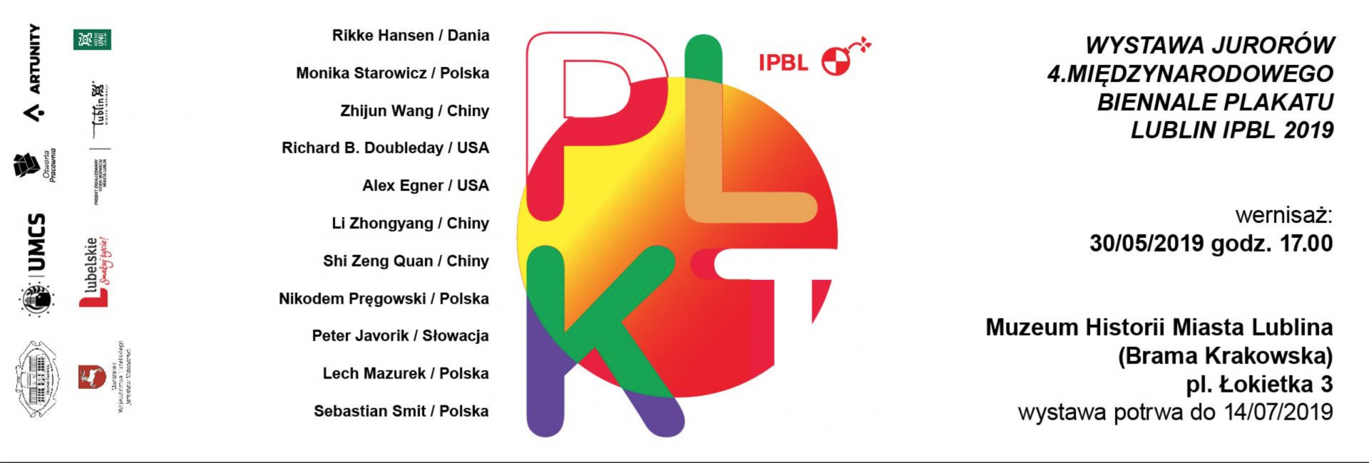 The exhibition of jurors and curators of the International Poster Biennale Lublin 2019