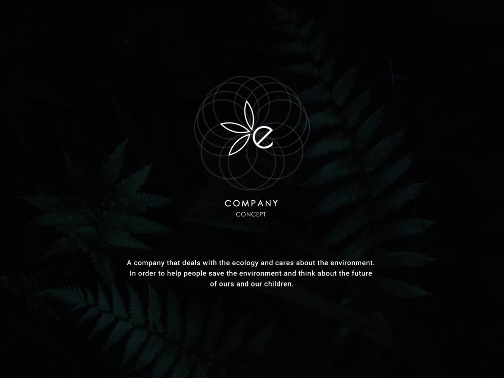"Web design ""ECO company (concept)"" 2019"