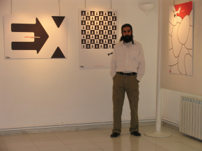 "Conducting First ""PosNeg"" Group's Poster Exhibition, Tehran, 2004 9"