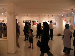 "Conducting First ""PosNeg"" Group's Poster Exhibition, Tehran, 2004 10"