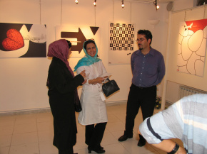 "Conducting First ""PosNeg"" Group's Poster Exhibition, Tehran, 2004 11"