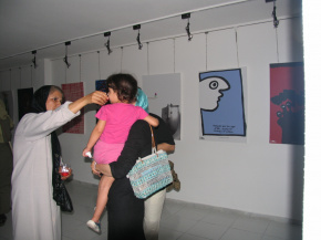 "Conducting First ""PosNeg"" Group's Poster Exhibition, Tehran, 2004 13"