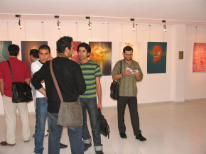 "Conducting First ""PosNeg"" Group's Poster Exhibition, Tehran, 2004 12"