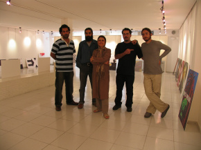 "Conducting First ""PosNeg"" Group's Poster Exhibition, Tehran, 2004 5"