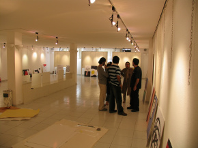"Conducting First ""PosNeg"" Group's Poster Exhibition, Tehran, 2004 6"