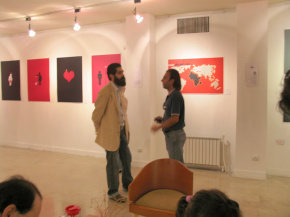 "Conducting second ""PosNeg"" Group's Poster Exhibition, Tehran & Isfahan, 2006 8"