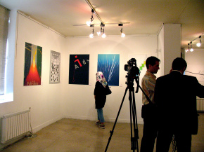 "Conducting second ""PosNeg"" Group's Poster Exhibition, Tehran & Isfahan, 2006 10"