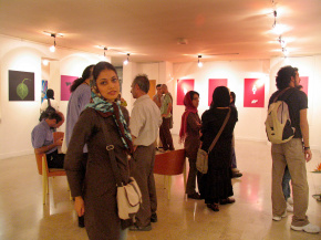 "Conducting second ""PosNeg"" Group's Poster Exhibition, Tehran & Isfahan, 2006 17"