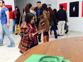 Onish Aminelahi solo poster exhibition 18