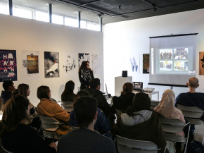 Persian Garden in USA - An exhibition of Iranian Posters & Onish Aminelahi 's Lecture at Michigan State University, USA 45