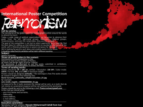 International Invitational Poster Exhibition - POSTERRORISM - Poland (Onish Aminelahi 's poster) 5