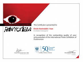 International Invitational Poster Exhibition - POSTERRORISM - Poland (Onish Aminelahi 's poster) 3