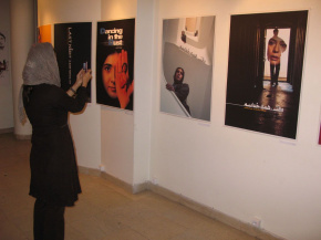 Onish Aminelahi's Solo Cinema poster exhibition in Tehran 5