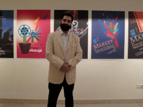 Onish Aminelahi's Solo Cinema poster exhibition in Tehran 12