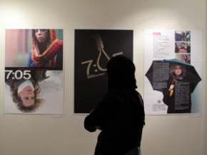Onish Aminelahi's Solo Cinema poster exhibition in Tehran 13