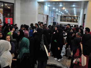 "Onish Aminelahi's lecturer and Solo Poster exhibition for the ""world graphic day"", koohsangi, Mashhad, Iran, 17"