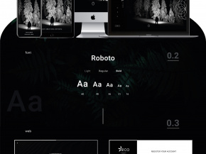 "Web design ""ECO company (concept)"" 2019 2"