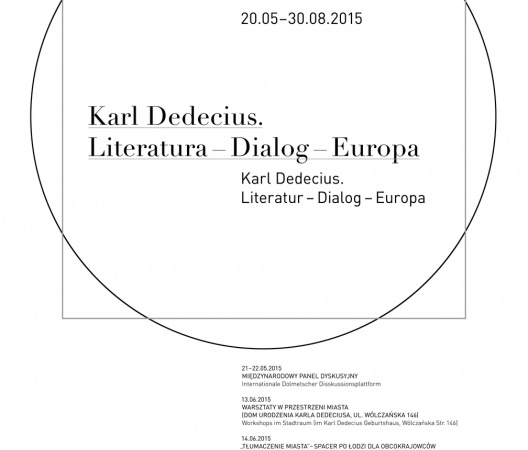 """Karl Dedecius. Literature – Dialogue – Europe"" exhibition poster"
