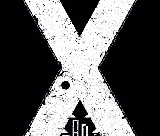 """X letter from poster series """"Be a man, read!"""""""