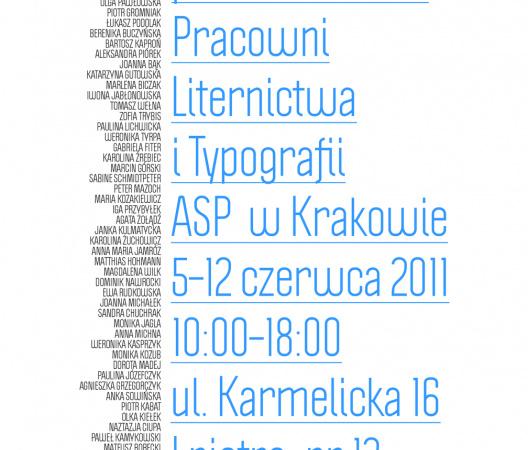 Wystawa Prac Studentów z Pracowni Liternictwa i Typografii w Krakowie