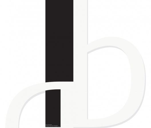plakat promujący autorski krój pisma