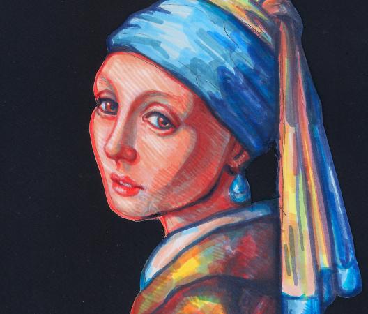 Dziewczyna z perłą - Ilustracja